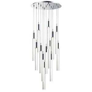 Big Fizz Polished Chrome 13-Light LED Pendant