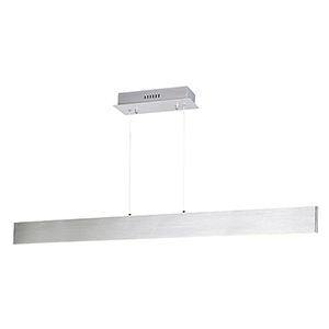 Blade Brushed Aluminum 43-Inch LED Linear Pendant