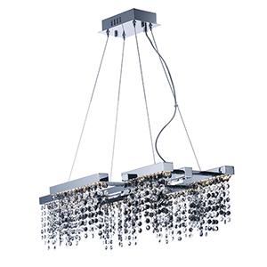 Midnight Shower Polished Chrome Six-Light LED Pendant Energy Star