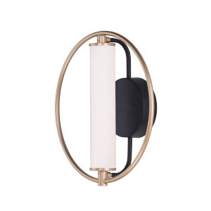 Flare Black and Soft Gold One-Light LED Wall Sconce With Clear and Frosted Glass