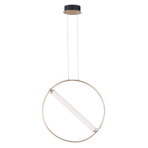 Flare Black and Soft Gold One-Light LED Mini Pendant With Clear and Frosted Glass, 3000K