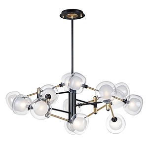 Parallel Black and Gold 16-Light LED Pendant