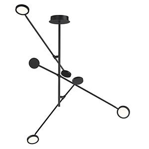 Paddle Black Three-Light LED Pendant