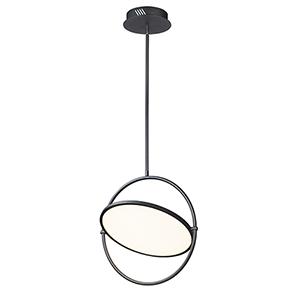 Paddle Black LED Single Pendant