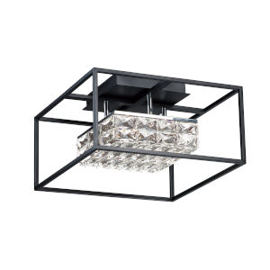 Black One-Light LED Flush Mount