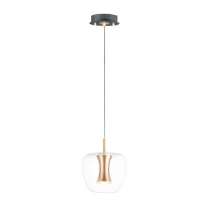 Newton Black and Gold Nine-Inch LED Mini Pendant