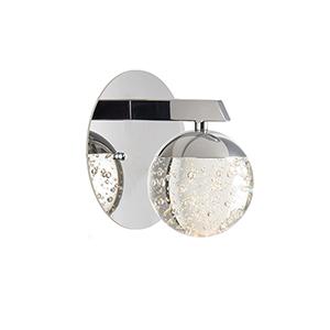 Orb II Polished Chrome LED Wall Sconce