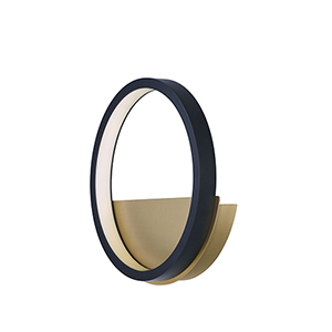 Hoopla Black and Gold LED Wall Sconce ADA