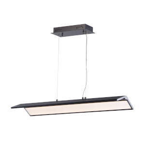 Glider Black and Polished Chrome 10-Inch One-Light LED Multi-Light Pendant