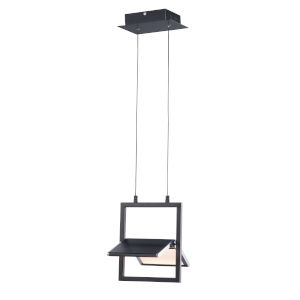 Glider Black and Polished Chrome One-Light LED Pendant
