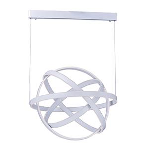 Gyro LED Matte White Eight-Light LED Pendant