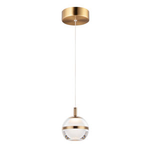 Ambit Natural Aged Brass One-Light LED Mini Pendant