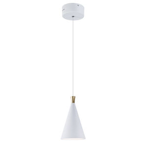 Norsk White and Metallic Gold One-Light LED Mini Pendant