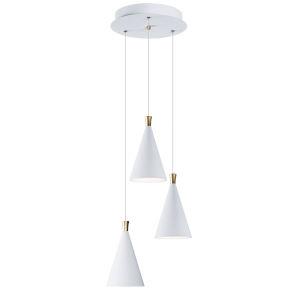 Norsk White and Metallic Gold Three-Light LED Multi-Light Pendant