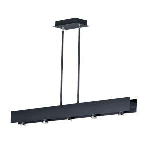Swank Black and Polished Chrome Five-Light LED Mini Pendant