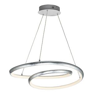 Clover Silver Leaf 21-Inch LED Pendant
