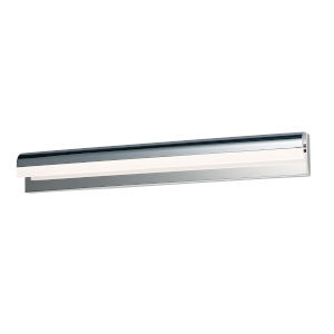 Waterfall Polished Chrome One-Light ADA LED Bath Vanity