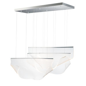 Soji Polished Chrome Three-Light LED Linear Pendant