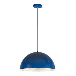 Hemisphere Gloss Navy and Aluminum 24-Inch LED Pendant