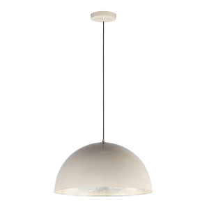Hemisphere Gloss Taupe and Aluminum 24-Inch LED Pendant