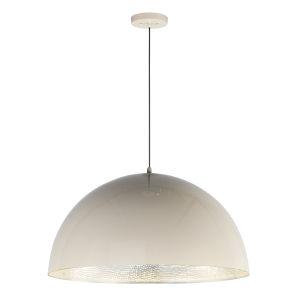 Hemisphere Gloss Taupe and Aluminum 31-Inch LED Pendant
