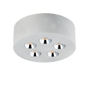 Peg Gray Five-Light LED Flush Mount