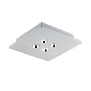 Dwell Gray Four-Light LED Flush Mount