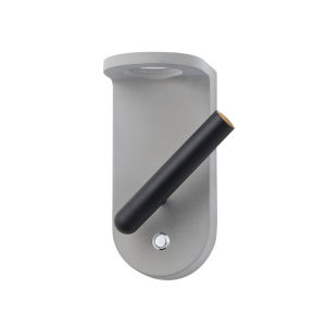 Peg Gray and Black One-Light ADA LED Flush Mount