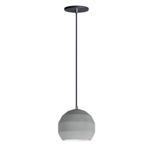 Hive Gray Concrete 8-Inch LED Pendant