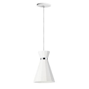 Sash White and Polished Chrome 8-Inch LED Pendant