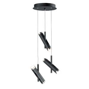 Ambit Black and Satin Nickel Six-Light LED Pendant