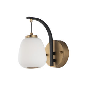 Brik Black and Gold 6-Inch One-Light LED Wall Sconce