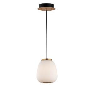 Soji Black and Gold 5-Inch Two-Light LED Mini Pendant