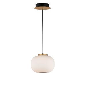 Soji Black and Gold 7-Inch Two-Light LED Mini Pendant