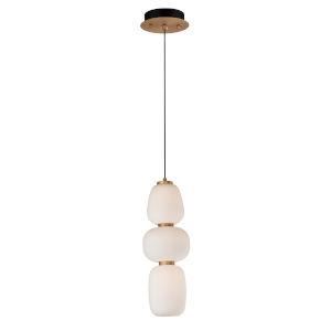 Soji Black and Gold One-Light LED Mini Pendant