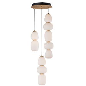 Soji Black and Gold Three-Light LED Mini Pendant