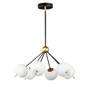 Penta Black and Gold Six-Light LED Pendant