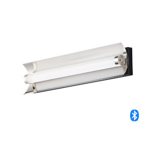 Reflect Black and Polished Nickel 24-Inch LED Smart Home Bath Vanity