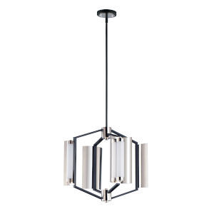 Reflect Black and Polished Nickel 20-Inch Four-Light LED Smart Home Pendant