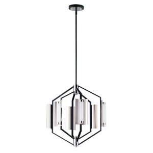 Reflect Black and Polished Nickel 18-Inch Six-Light LED Smart Home Pendant