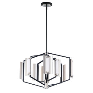 Reflect Black and Polished Nickel 22-Inch Eight-Light LED Smart Home Pendant