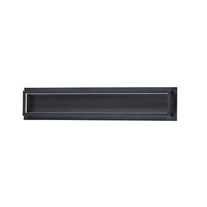 4 Square Black 25-Inch ADA LED Bath Vanity