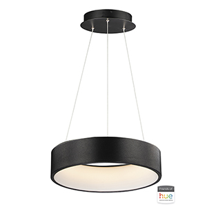 IQ Brushed Black 18-Inch LED Single Pendant