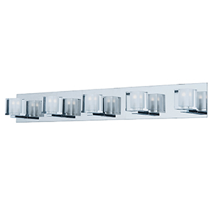 Blocs LED Polished Chrome 5-Light LED Bath Vanity Energy Star