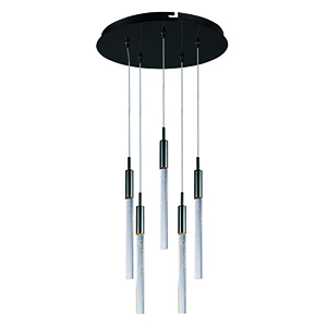 Scepter Black Chrome 5-Light LED Pendant Energy Star