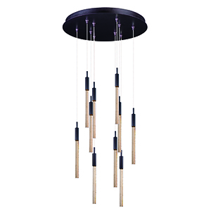 Scepter Anodized Bronze 10-Light LED Pendant Energy Star