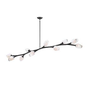 Blossom Black 71-Inch Length 10-Light LED Pendant