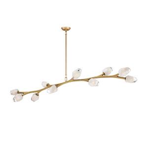 Blossom Natural Aged Brass 71-Inch Length 10-Light LED Pendant