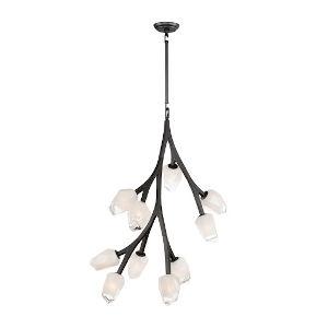 Blossom Black 10-Light LED Pendant