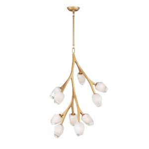 Blossom Natural Aged Brass 10-Light LED Pendant